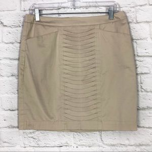 Kenar Size 4 Khaki Layered Front Pocket Mini Skirt